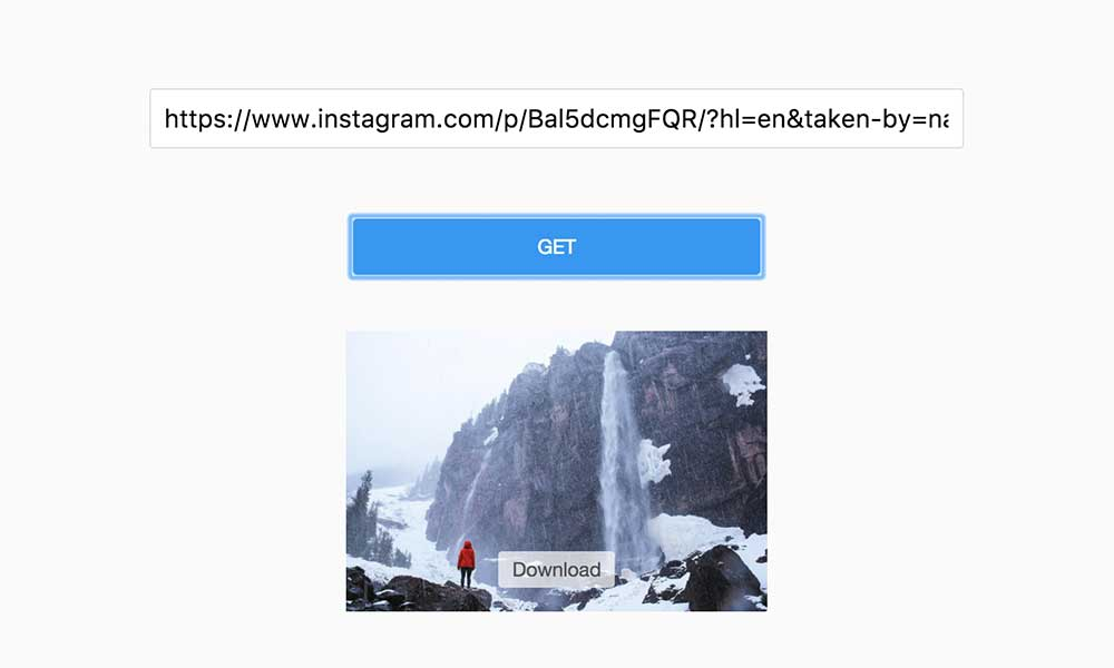 "Open https://saveig.com/, copy the link to the input box, click ""Get"""
